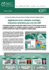 Bulletin of the POR Sector Program nº 9, May 2007