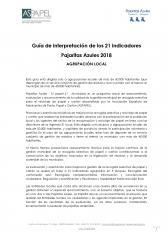 Guía de Interpretación de los 21 indicadores del Programa Tu Papel 21 para Agrupaciones Locales