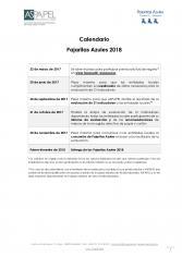 Calendario Pajaritas Azules 2018