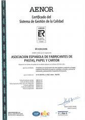 Certificado del Sistema de Gestión de la Calidad de ASPAPEL